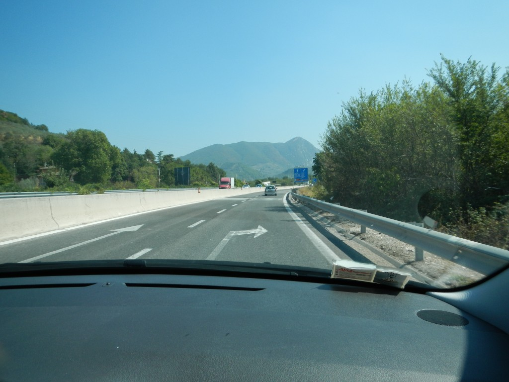 The road to Spoleto, Umbria